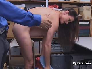 stealing housewife caught and fucked by guard