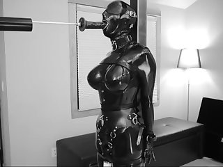 latex bondage machine fucked