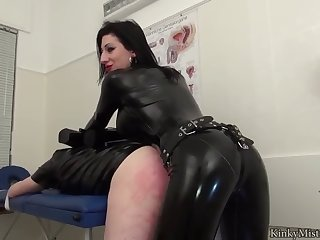 latex girl pegs guys