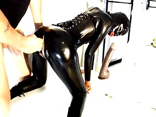 latex big strapon