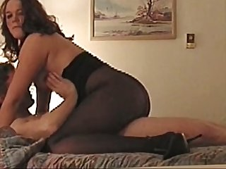 pantyhose cock suck and fuck by nylon girl