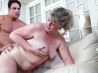 real adult old woman takes young cock
